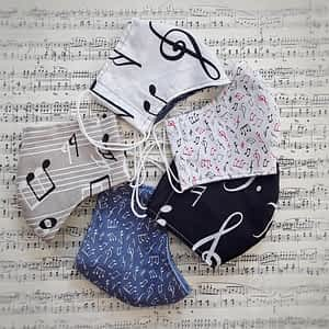 Nadeen Art Set Masks with Musical Notes