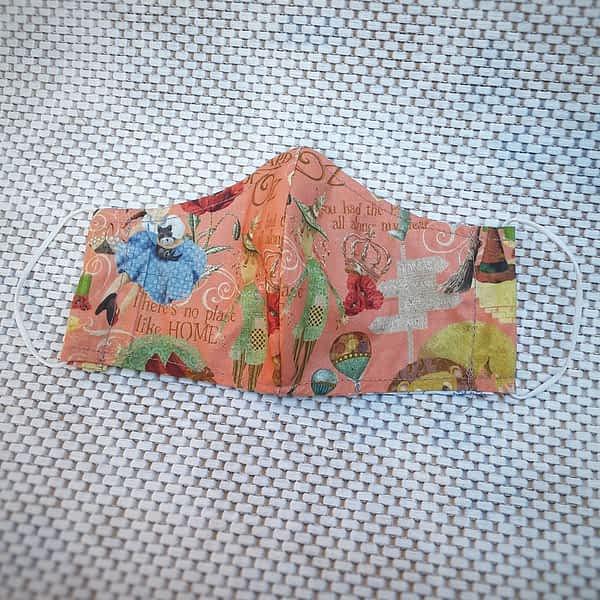 Nadeen art Υφασμάτινη Μάσκα Προστασίας Ενηλίκων Nadeen art Υφασμάτινη Μάσκα Προστασίας Ενηλίκων Μάγος του Οζ Σομόν