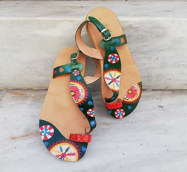 Summer leather sandals