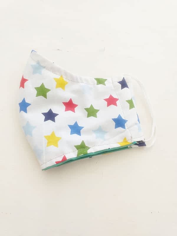 Nadeen Αrt Υφασμάτινη Μάσκα Προστασίας Παιδική Πολύχρωμα Αστέρια