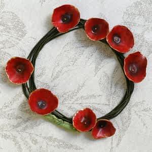 Nadeen Art Necklace Κόκκινο Πράσινο