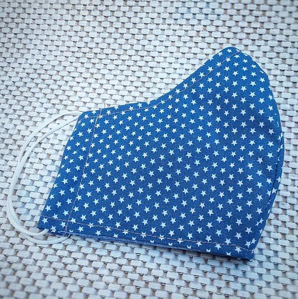 Nadeen art Υφασμάτινη Μάσκα Προστασίας Ενηλίκων Blue Star